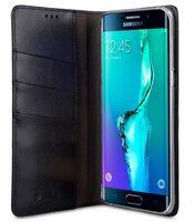 Melkco Mini PU Case for Samsung Galaxy S6 Edge Plus - Herman Series (Black PU)
