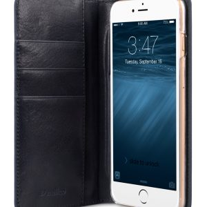 """Italian Premium Cow Leather Hex-shine Series Case Book Style for Apple iPhone 6 / 6s - 5.5"""" (Italian Blue)"""