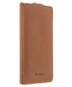 Melkco Jacka Series Premium Leather Case for Sony Xperia XZ - Jacka Type (Classic Vintage Brown)