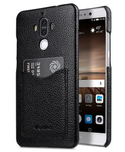 Melkco Snap Cover Series Lai Chee Pattern Premium Leather Card Slot Back Cover V2 Case for Huawei Mate 9 - ( Black LC )