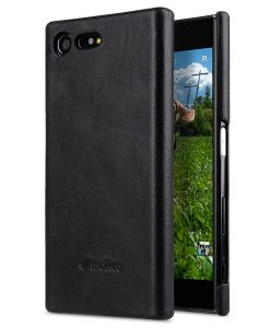 Melkco Premium Leather Snap Cover for Sony Xperia X Compact (Vintage Black)