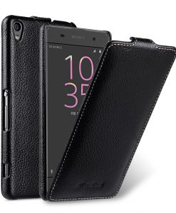 Melkco Premium Leather Case for Sony Xperia XA - Jacka Type (Black LC)