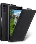 Melkco Premium Leather Case for Sony Xperia XZ - Jacka Type (Vintage Black)