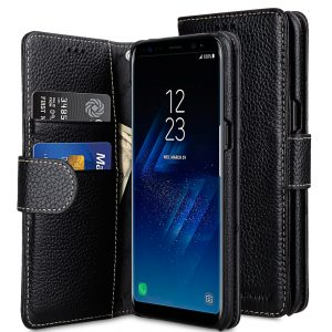 Melkco Lai Chee Pattern Premium Leather Wallet Book Type Case for Samsung Galaxy S8 Plus - ( Black LC )