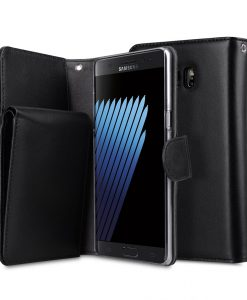 Melkco Premium Leather Case for Samsung Galaxy Note 7 - B-Wallet Book Type (Black)