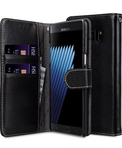 Melkco Premium Leather Cases Wallet Book Type Case for Samsung Galaxy Note 7 - Black LC