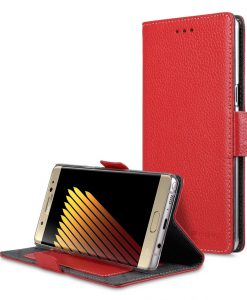 Melkco Premium Leather Case for Samsung Galaxy Note 7 - Locka Type (Red LC)