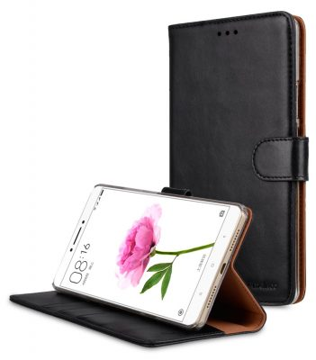 Melkco Premium Genuine Leather Case For Xiaomi Mi Max - Wallet Book Type With Stand Function (Traditional Vintage Black)