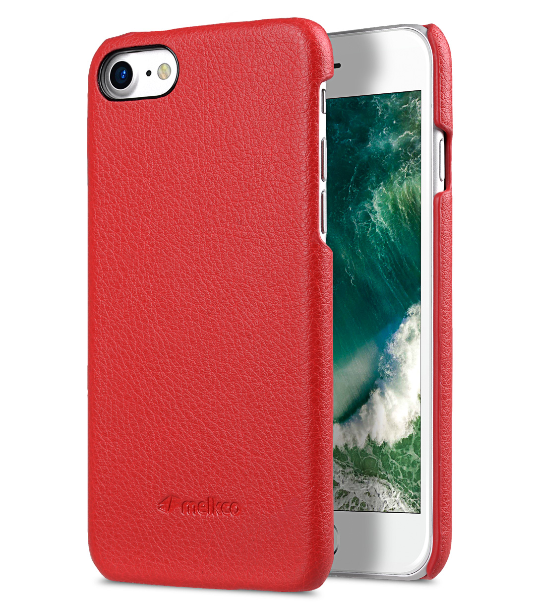 melkco mini pu leather snap cover for apple iphone 7 8 4 7 red lc melkco phone accessories. Black Bedroom Furniture Sets. Home Design Ideas