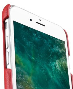 """Melkco Mini PU Leather Snap Cover for Apple iPhone 7 / 8 (4.7"""")- (Red LC)"""