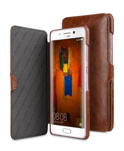 Melkco Crazy Horse PU Leather Booka Type Crossbody Bag for Huawei Mate 9 Pro - ( Brown CH )