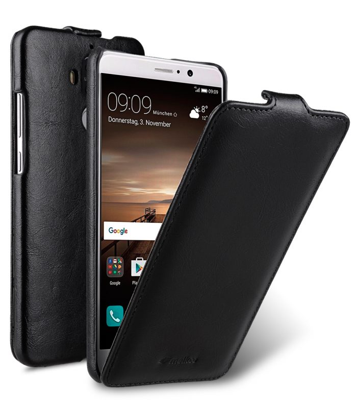 Melkco Jacka Series Crazy Horse PU Leather Jacka Type Case for Huawei Mate 9 - ( Black CH )