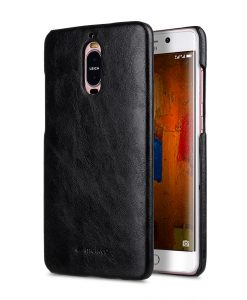 Melkco Snap Cover Series Crazy Horse PU Leather Snap Cover Case for Huawei Mate 9 Pro - ( Black CH )