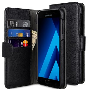Melkco Lai Chee Pattern PU Leather Wallet Book Type Case for Samsung Galaxy A7 (2017) - ( Black LC )