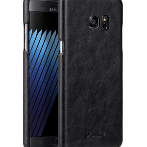 Melkco Mini PU Leather Case for Samsung Galaxy Note 7 - Snap Cover (Black )