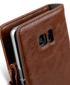 Melkco Mini PU Leather Case for Samsung Galaxy Note 7 - B-Wallet Book Type (Brown )