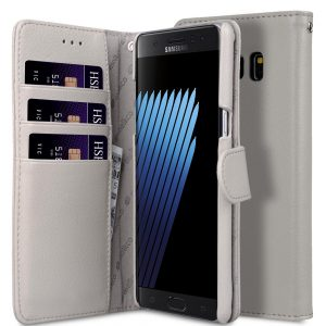 Melkco Mini PU Leather Case for Samsung Galaxy Note 7 - Wallet Book Type (Grey LC)
