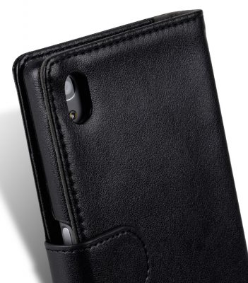 Melkco Mini PU Cases Wallet Book Type for Sony Xperia Z5 - Black PU