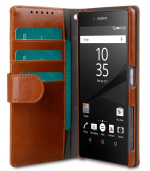 PU Cases Wallet Book Type for Sony Xperia Z5