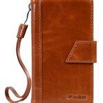Melkco Premium Genuine Leather Kingston Style Case for Sharp Aquos Zeta (SH-01H) - Brown Wax