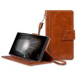 Melkco Premium Genuine Leather Kingston Style Case for Sharp Aquos Xx (SH404) - Brown Wax