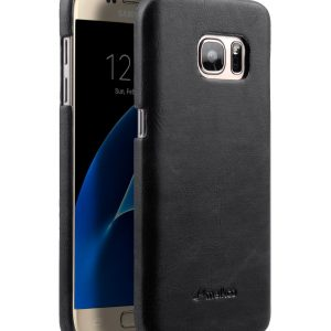PU Leather Snap Cover Case For Samsung Galaxy S7
