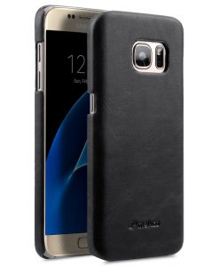 Melkco Mini PU Leather Snap Cover Case For Samsung Galaxy S7 (Classic Vintage Black PU)