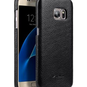 Premium Genuine Leather Snap Cover Case For Samsung Galaxy S7