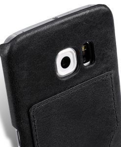 Melkco Mini PU Cases - Snap Cover With Back Card Slot for Samsung Galaxy S6 Edge- Black PU