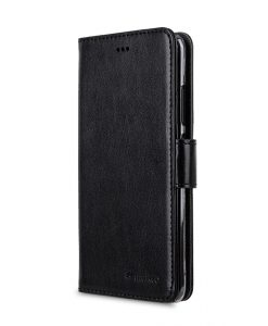 Melkco Mini PU Cases Wallet Book Clear Type for Huawei P10 - Black PU