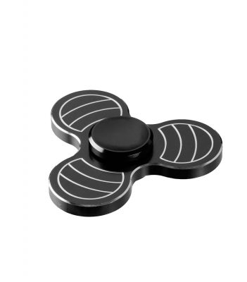 i-mee Carving Tri-Bar Metal Fidget Spinner - (Black)