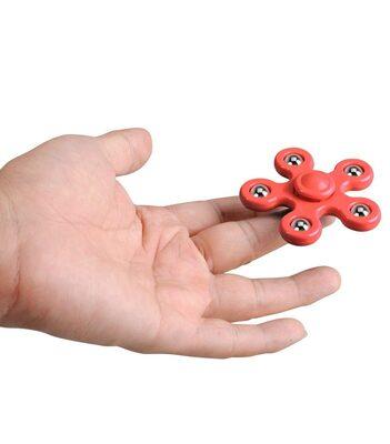 i-mee Steel Balls Five-Bar Fidget Spinner - (Red)