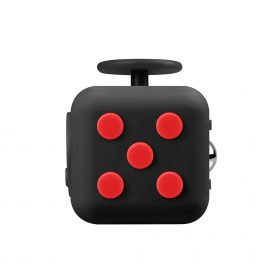 i-mee Stress Relief Fidget Cube – (Black/Red)
