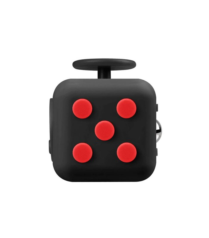 i-mee Stress Relief Fidget Cube - (Black/Red)