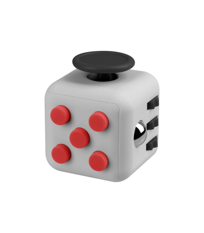 i-mee Stress Relief Fidget Cube - (Grey/Red)
