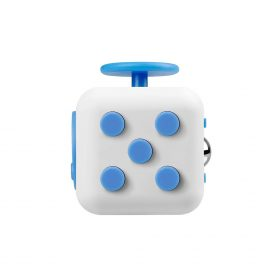 i-mee Stress Relief Fidget Cube – (White/Blue)