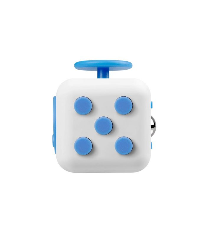 i-mee Stress Relief Fidget Cube - (White/Blue)