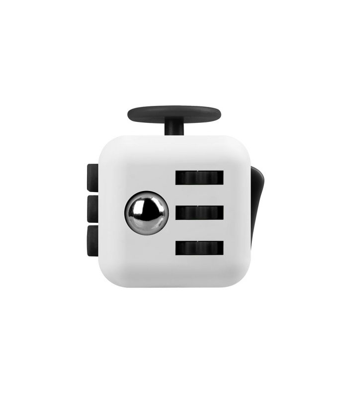 i-mee Stress Relief Fidget Cube - (White/Black)