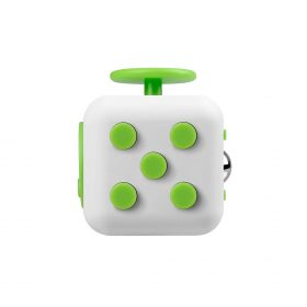 i-mee Stress Relief Fidget Cube – (White/Green)