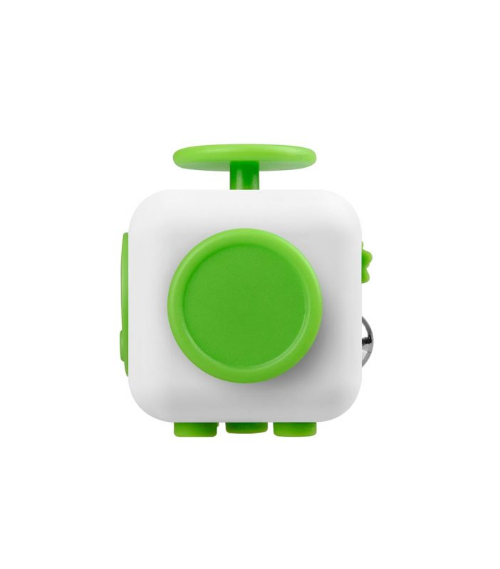 i-mee Stress Relief Fidget Cube - (White/Green)
