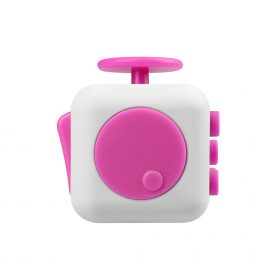 i-mee Stress Relief Fidget Cube – (White/Rose Red)