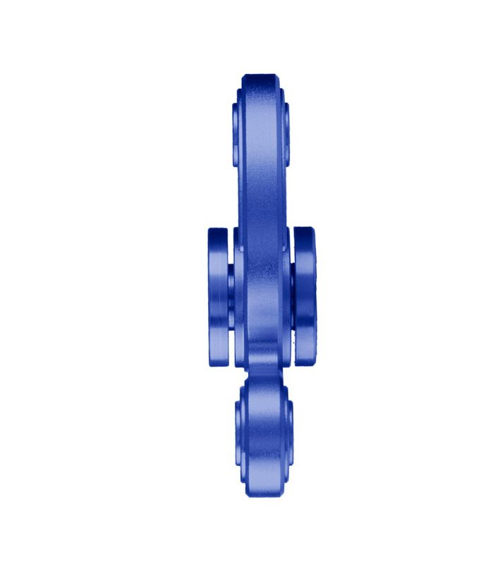 i-mee Swirl Tri-Bar Metal Fidget Spinner - (Blue)