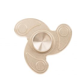 i-mee Swirl Tri-Bar Metal Fidget Spinner – (Gold)