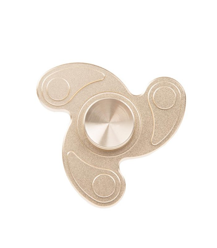 i-mee Swirl Tri-Bar Metal Fidget Spinner - (Gold)