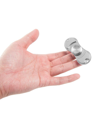 i-mee Aluminum Alloy Dual-Bar Fidget Spinner - (Silver)