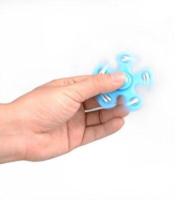 i-mee Steel Balls Five-Bar Fidget Spinner - (Blue)