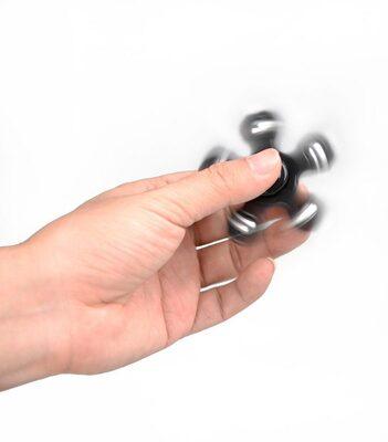 i-mee Steel Balls Five-Bar Fidget Spinner - (Black)