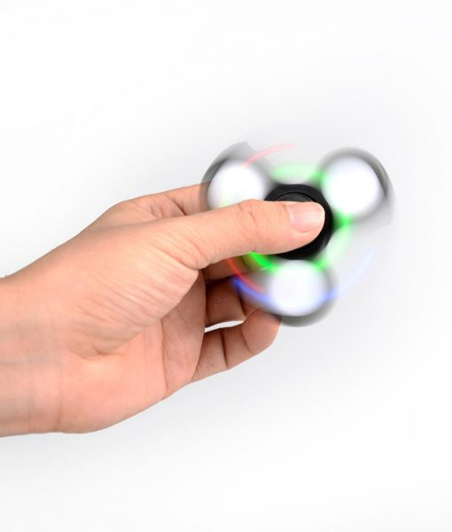 i-mee LED Light Tri-Bar Fidget Spinner - (Black)