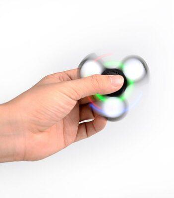i-mee LED Light Tri-Bar Fidget Spinner - (Black)
