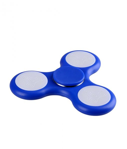 i-mee LED Light Tri-Bar Fidget Spinner - (Dark Blue)